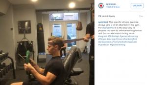 instagram, nek-oefening, autocoureur, Jeroen Mul